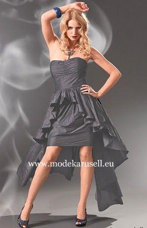 Vokuhila Kleid Abendkleid Online Bestellen in Schwarz