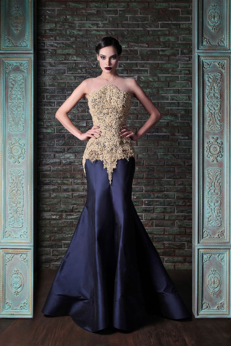 suit shaped gown