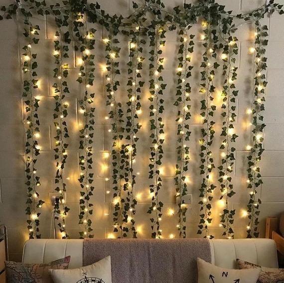 Led Wall Vine Lights Etsy In 2021 Room Inspiration Bedroom Fairy Lights Bedroom Led Lighting Bedroom