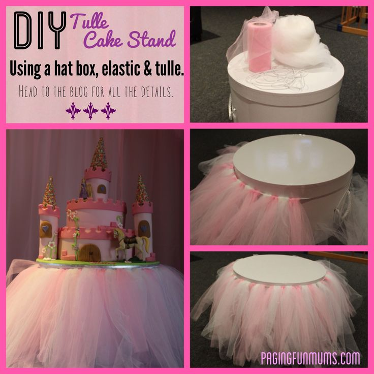 DIY Tulle Cake Stand, one day for a granddaughter!