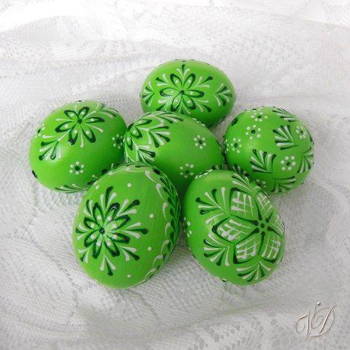 Kraslice - Velikonoční vajíčka - zelená