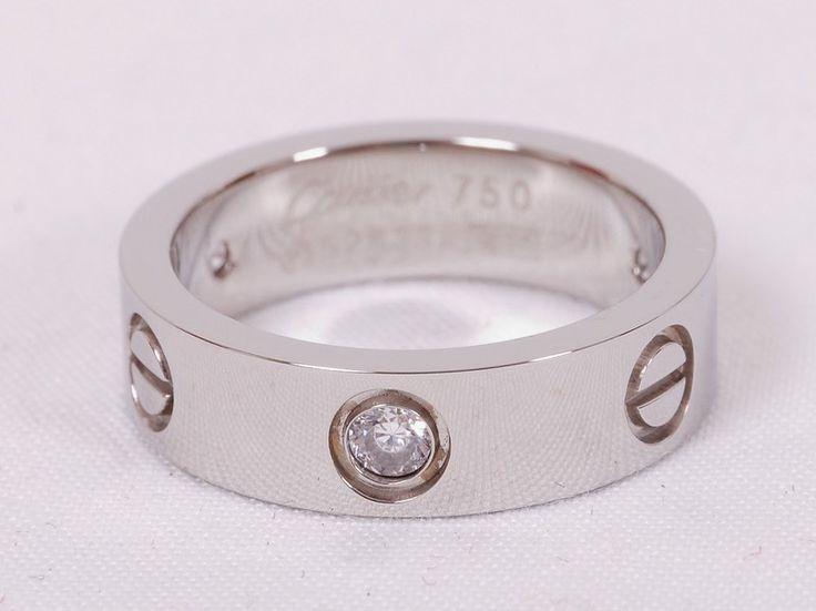 Кольцо Cartier серебристое с камнем