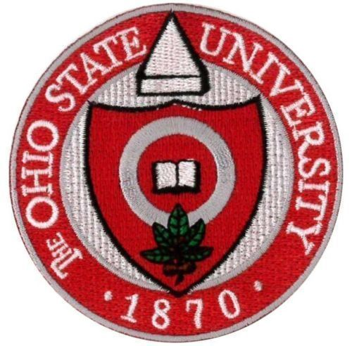 "OSU University of Ohio State Buckeyes Embroidered Iron On Patch 3""x 3"" RARE NCAA 