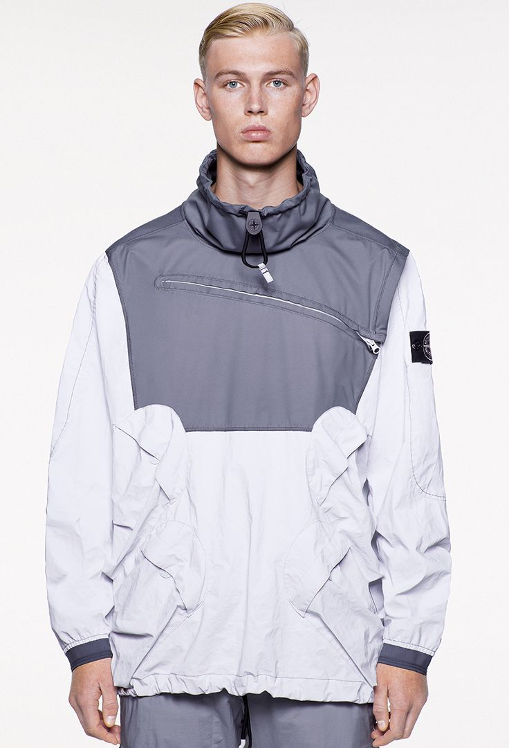 Stone Island SS'018_44999 Garment Dyed Plated Reflective With NY Jersey-R on stoneisland.com