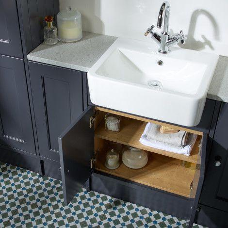 Burford Slate Grey Fitted Bathroom Furniture   Roper Rhodes
