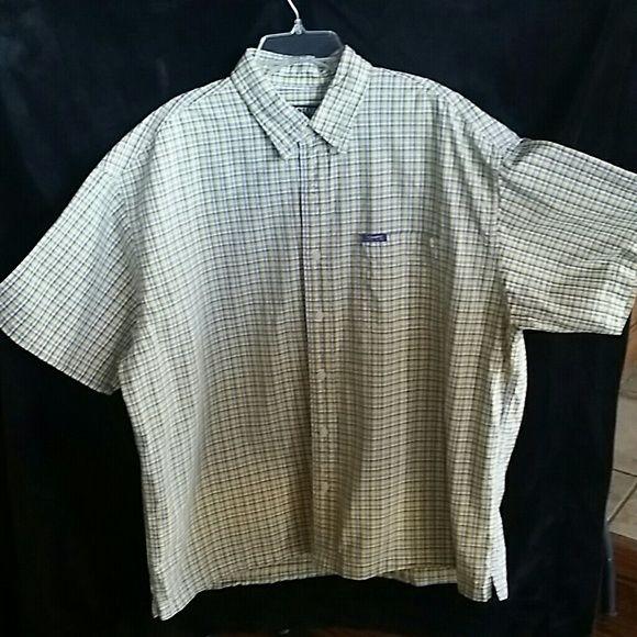 CHAPS RALP LAUREN MEN'S SHIRT PLAID COLLARED SHORT SLEEVES BUTTON DOWN MEN'S SHIRT 100 % COTTON. WELL-KEPT WORE ONLY ONCE. GOOD CONDITION! CHAPS RALP LAUREN  Tops Button Down Shirts