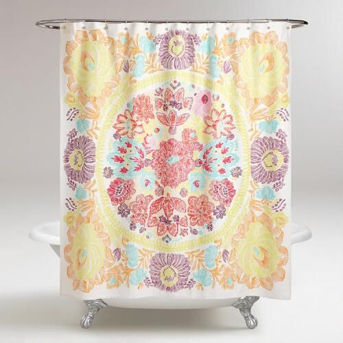 One of my favorite discoveries at WorldMarket.com: Rachel Shower Curtain