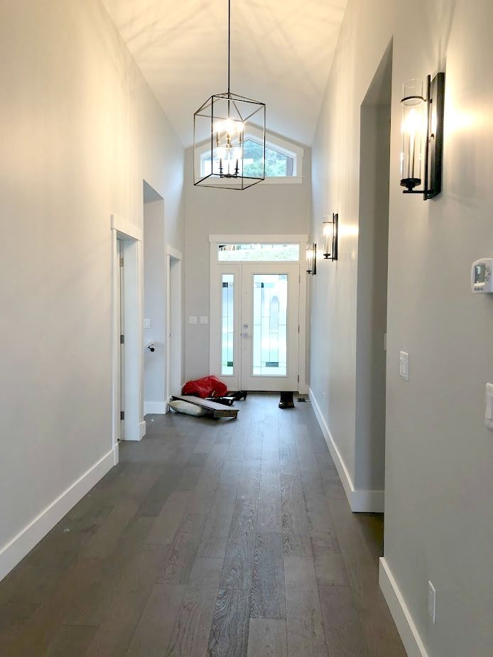 Our Entryway Sherwin Williams Colonnade Gray Paint Colors For Home Home Paint Colors For Living Room