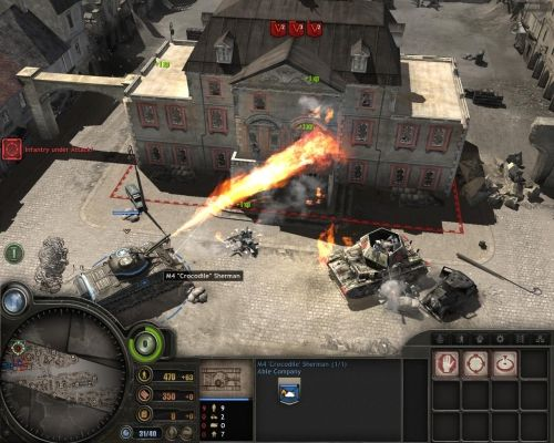 Company of Heroes developed by Relic Entertainment is a real time strategy game. This game was first introduced in 2006 for Windows. Later was made available for Mac OS X in 2009. In the PC gamer magazine, Company of Heroes received the highest votes as RTS (Real time strategy) game. This game supports both single player and multiplayer modes.  In the single player mode, the player leads two U.S  military troops in the Battle of Normandy for the liberation of France.