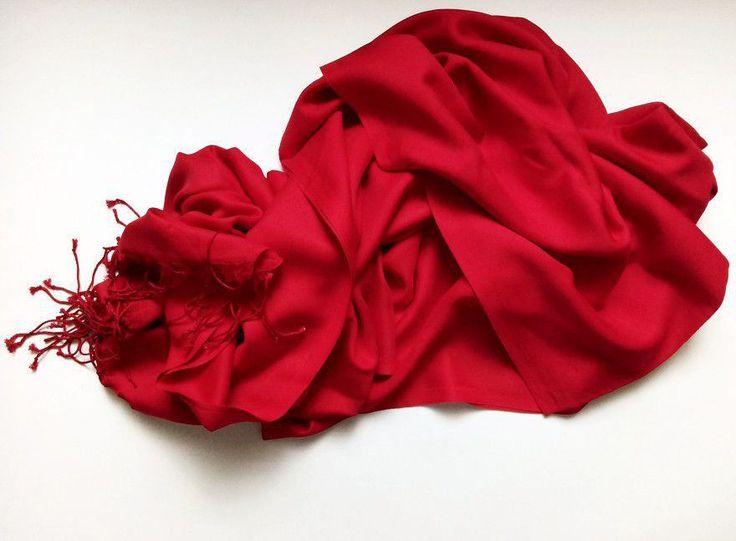 Scarlet Scarf. Red Scarf. Viscose scarf, silk scarf. Viscose fabric scarf. by VUGASHOP on Etsy