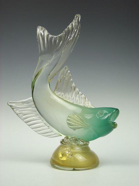 Vetreria archimede seguso murano glass fish sculpture for Murano glass fish