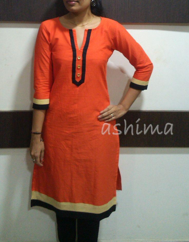 Code:1501160 -Linen Cotton Kurta- Price INR:790/-