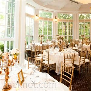Elegant Formal Wedding In Beverly MA White And Gold Reception Decor The Window Lined Room Of Couples Venue Let Plenty Natural
