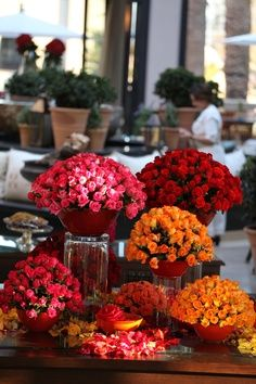 What an amazing show of Roses in the lobby of Four Seasons Resort Marrakech