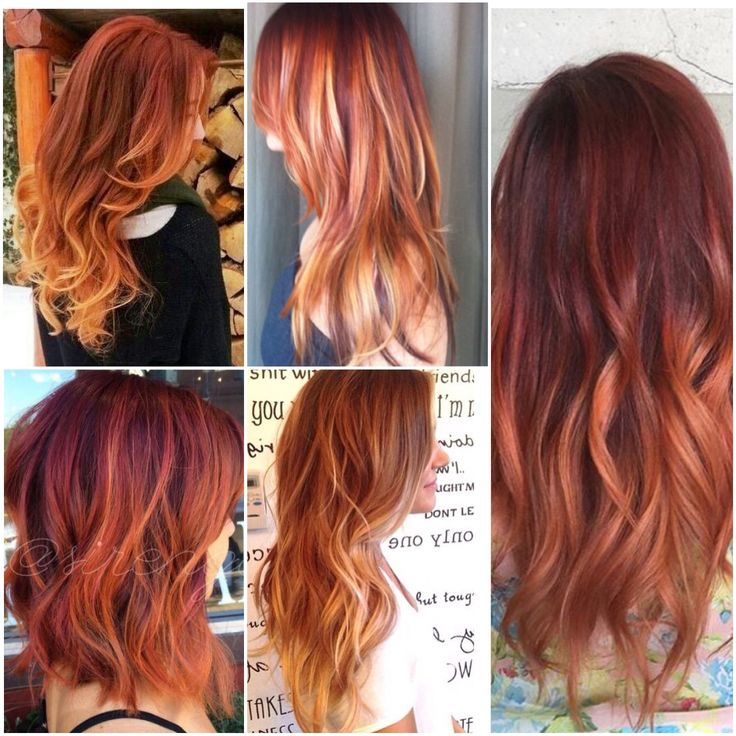 Balayage Rouge Et Blond