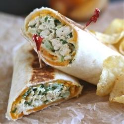 Crispy Chicken Salad Wrap by abitchinkitchen