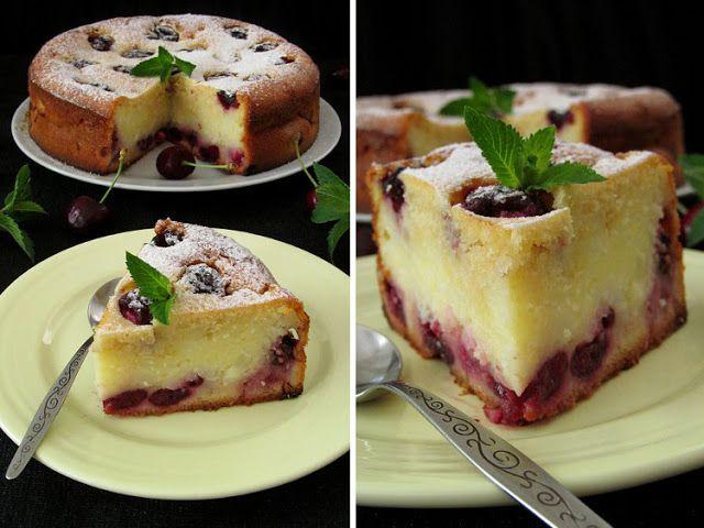 Постигая искусство кулинарии... : Пирог с начинкой из пудинга и черешни