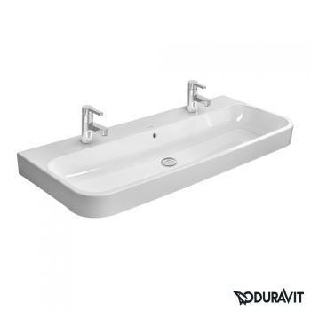 Duravit Happy D.2 Möbel-Doppelwaschtisch weiß Wondergliss