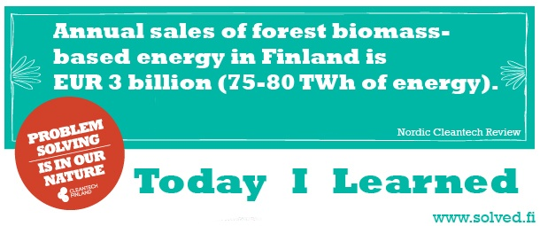 TIL: Annual sales of forest biomass-based energy in Finland is EUR 3 billion (75-80 TWh of energy).