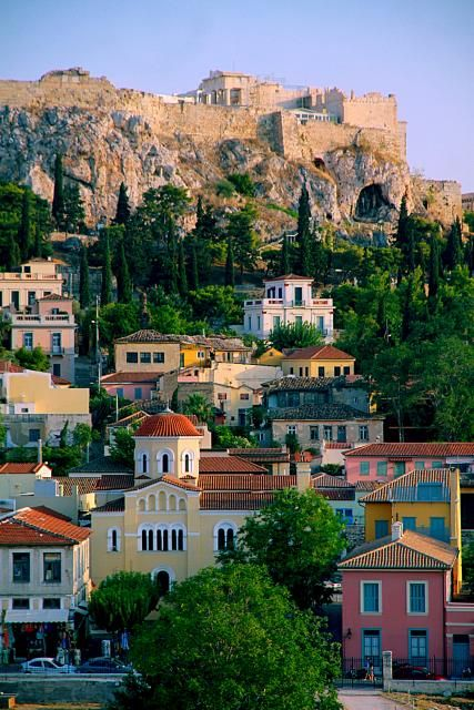Plaka - neo-classical houses huddled under the Acropolis now command a top price in Athens, a city that is full of cheaply built high-rise devoid of architectural merit. Greece