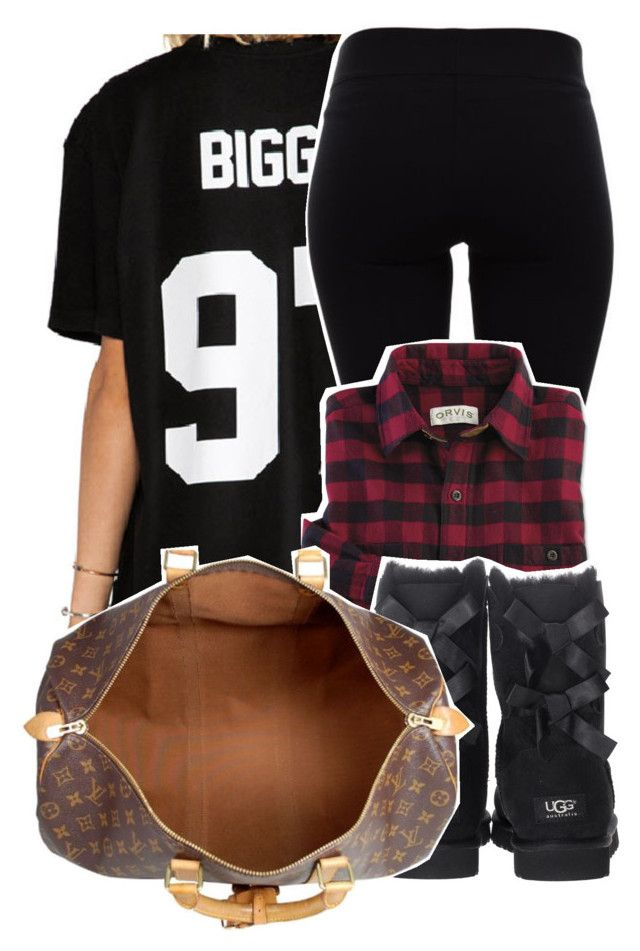 """""""11/11/15"""" by xtaymaxlovesxmisfitx ❤ liked on Polyvore featuring Helmut Lang, UGG Australia and Louis Vuitton"""