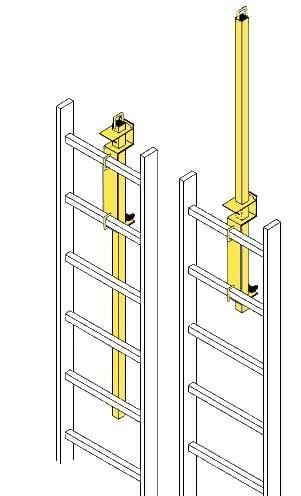 JL Industries LP- 4 Safety Post for Roof Access Ladders