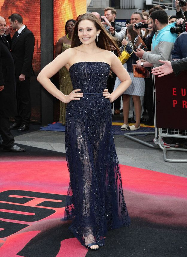 """Elizabeth Olsen At The """"Godzilla"""" Premiere   The Most Fab Or Drab Celebrity Outfits Of The Week"""