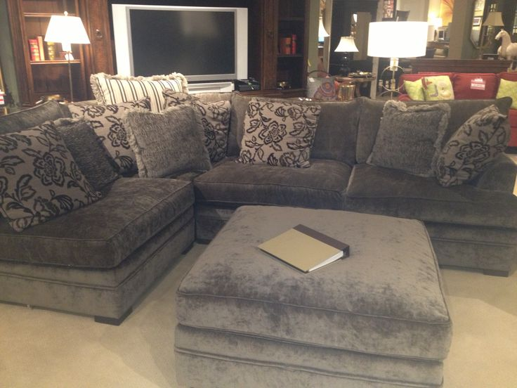 Obsessed with the Godfrey sectional - Walter E Smithe (would change pillows and arms and possibly color)