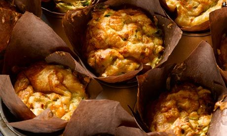 Red onion, cheddar and bacon muffins