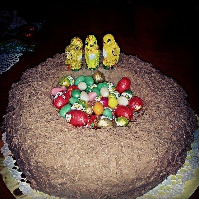 Easter nest :) chocolate cake #egg #easter #nest #bird #followme #followmeplease #picoftheday #follow4followback #yummi #chocolate #seasonal #chicken #chick #cute #delicious #best #today #foodgasm #food #cake #chocolatecake #fff #f4f #l4l