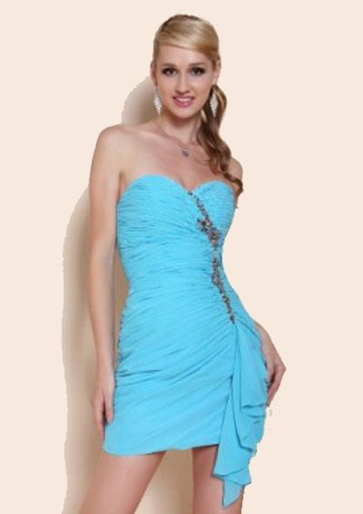 cheap sweet heart sexy cocktail gowns