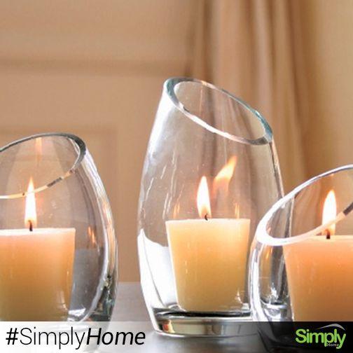 Porta velas grande $14.500   Práctica base de vela en vidrio que le permitirá generar una ambientación cálida y de relajación en su hogar.  #SimplyHomeCol #OnlineShop   #Simply #Home #SimplyHome