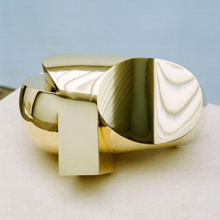 Constantin Brancusi, Tete, 1920-1992, polished bronze, 7 1/2 x 9 1/2 x 11 3/4 inches