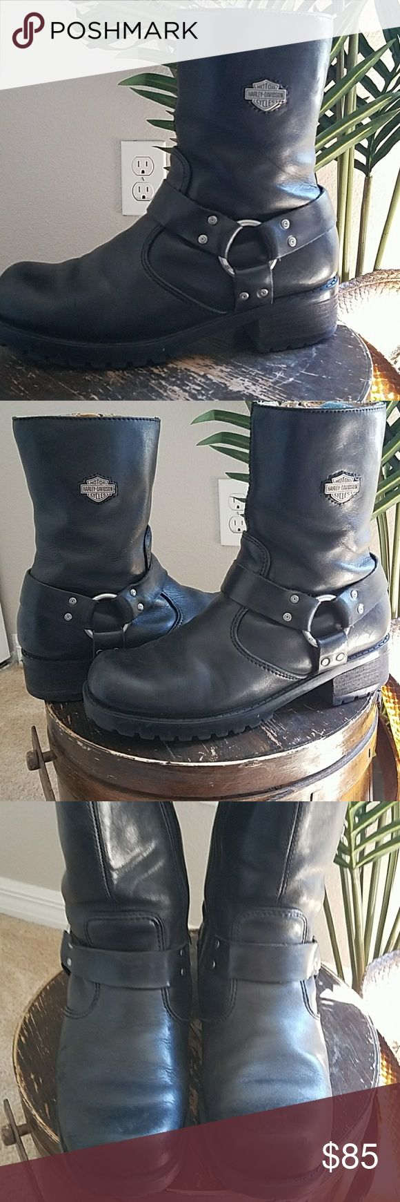 Harley Davidson boots Worn in just right! Perfect women's biker boot. 2Chillies Shoes