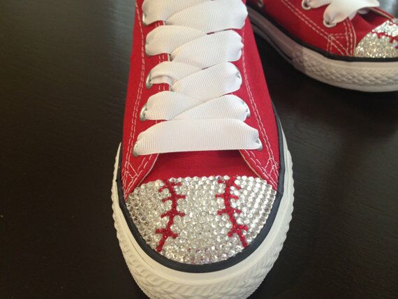 Red Converse Baseball Shoes