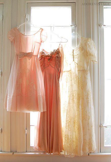 Pretty vintage dresses.