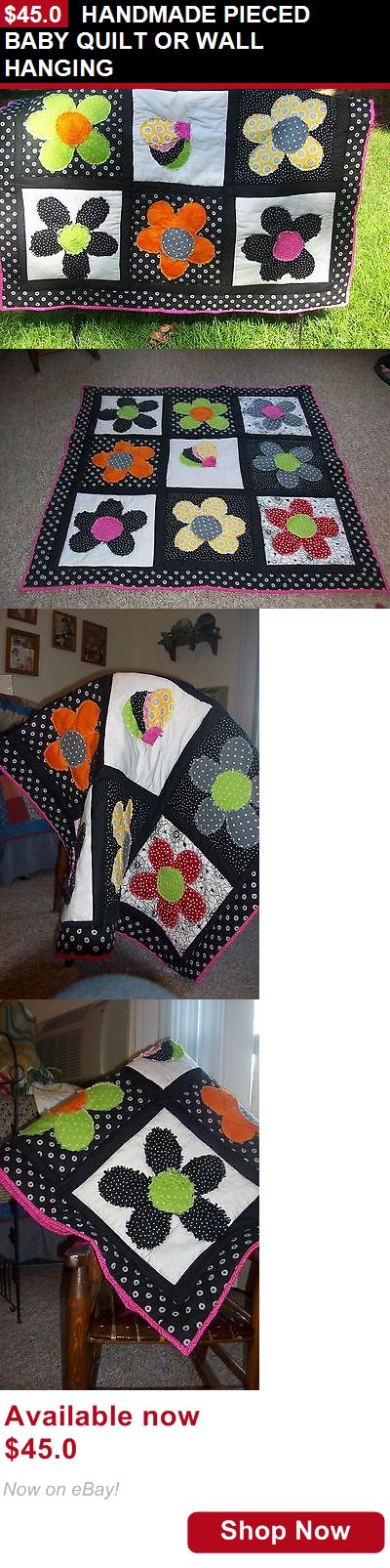 Quilts And Coverlets: Handmade Pieced Baby Quilt Or Wall Hanging BUY IT NOW ONLY: $45.0
