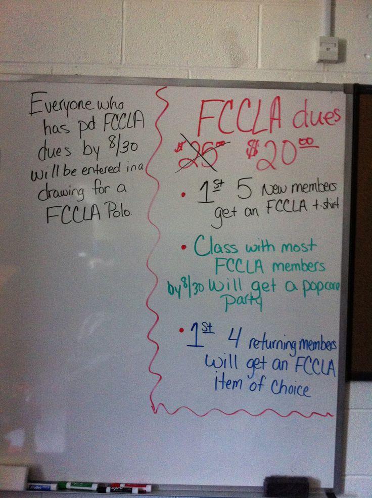 FCCLA membership incentives