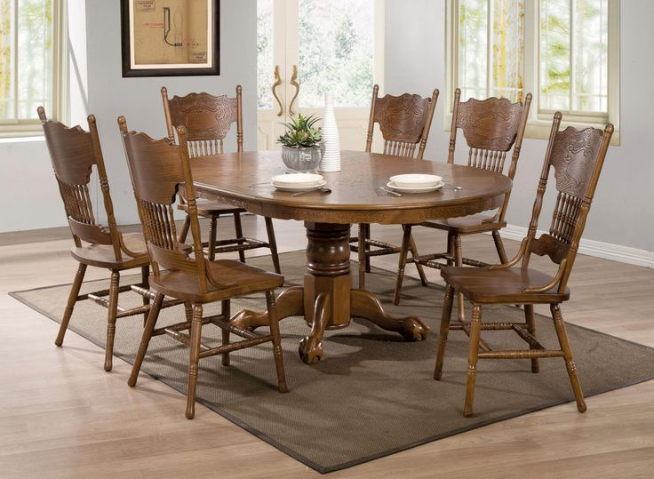 Best 25 Oak Dining Room Set Ideas On Pinterest  Oak Dining Room Unique Hardwood Dining Room Furniture Design Ideas