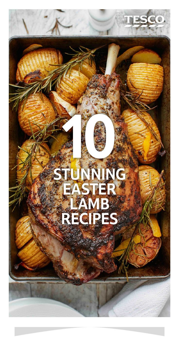 Ensure your Easter lunch is one to remember with our stunning roast lamb recipes. Keep it traditional by pairing a leg of lamb with mint and capers, or try something more unique like a fragrant Middle Eastern stuffing. | Tesco