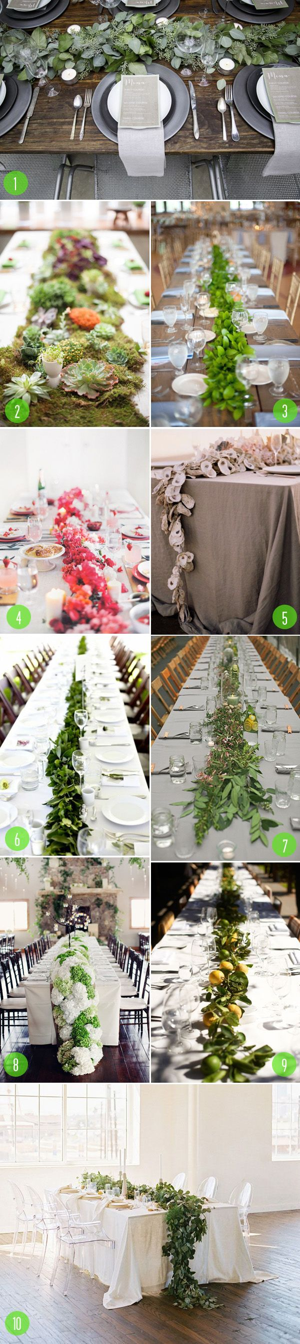Top 10: Garland centerpieces