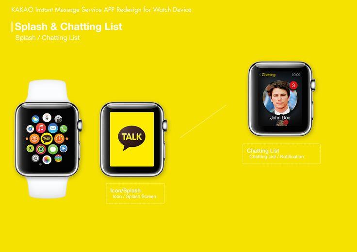 Kakao Talk Watch App Concept Design on Behance