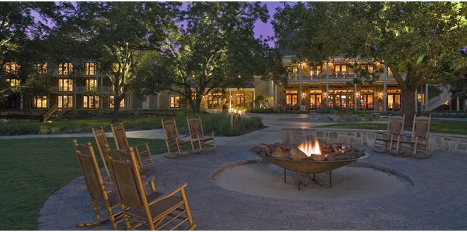 Hyatt Hill Country Resort - near San Antonio. I absolutely love this hotel, especially around Christmas time.