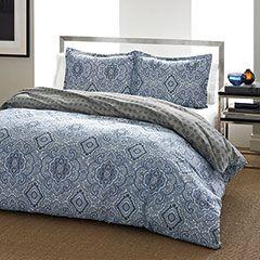 Milan Blue Comforter & Duvet Set