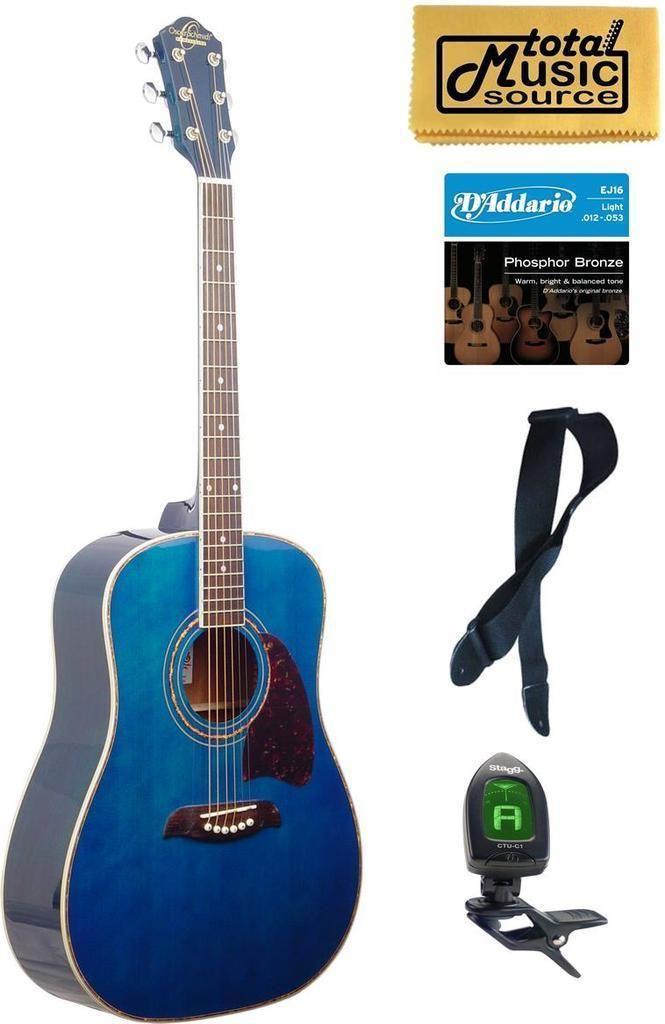 Og2 Oscar Schmidt Dreadnought Acoustic Guitar Washburn Blue New Og2tbl Kit Guitar Best Acoustic Guitar Acoustic Guitar Case