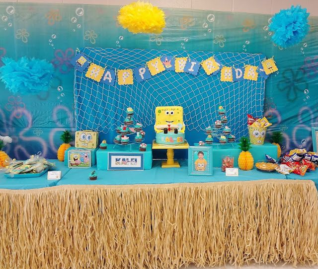 spongebob birthday party ideas | Karo's Fun Land: {Party Feature} SpongeBob Birthday Party