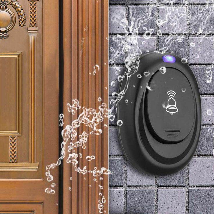 Waterproof EU Plug-in 220V AC Digital LED 36 Cord Song Music 100M  Remote Control Home Door Bell