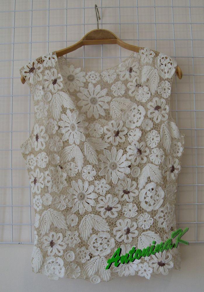 Resultado de imagen para blusas en crochet irlandes
