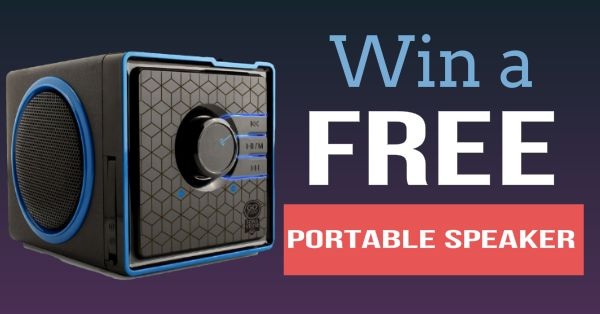 Each month we hold a drawing to give 1 lucky participant a free portable speaker! Click on the link to enter for your chance to win :)