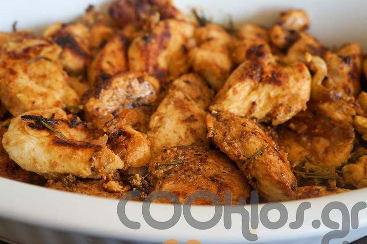 Φιλετάκια κοτόπουλου με μπύρα και δενδρολίβανο